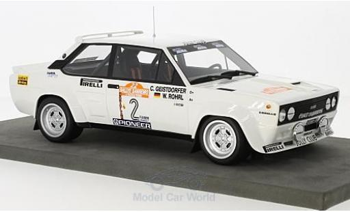 Fiat 131 Abarth 1/18 Topmarques Collectibles No.2 Rallye WM Rallye San Remo 1980 W.Röhrl/C.Geistdörfer miniature