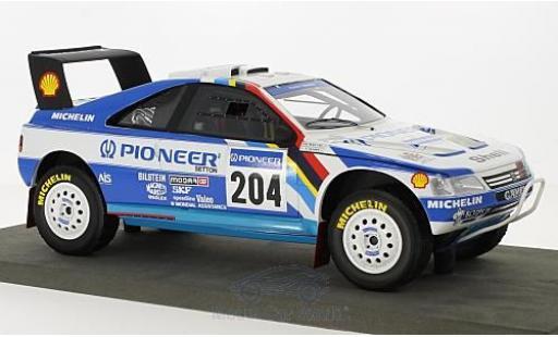 Peugeot 405 1/18 Topmarques Collectibles GT T-16 No.204 Pioneer Rallye Paris Dakar 1989 A.Vatanen/B.Berglund modellautos