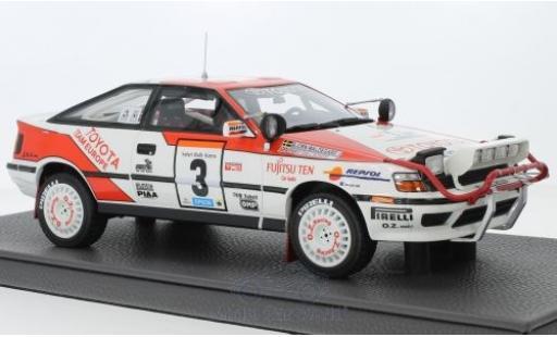 Toyota Celica 1/18 Topmarques Collectibles ST165 No.3 Team Europe Rallye WM Rallye Safari 1990 B.Waldegard/F.Gallagher miniature