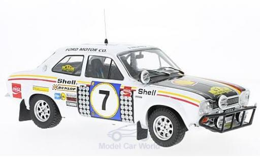 Ford Escort 1/18 Triple 9 Collection MK I RS 1600 No.7 Rallye Safari 1972 H.Mikkola/G.Palm ohne Vitrine miniature