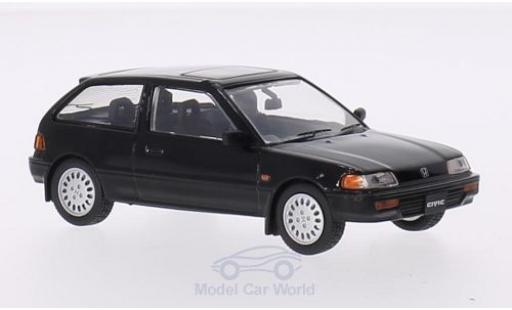 Honda Civic 1/43 Triple 9 Collection noire RHD 1987 miniature