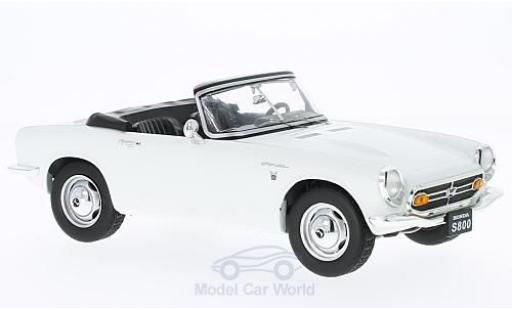 Honda S800 1/18 Triple 9 Collection Cabrio blanche 1966 ohne Vitrine miniature