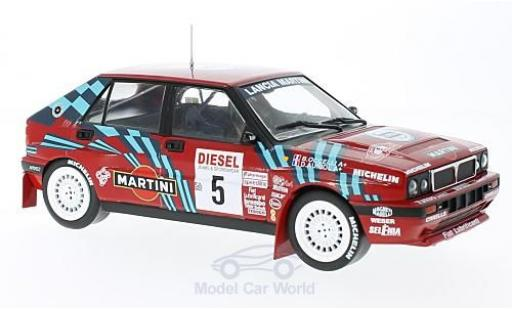 Lancia Delta 1/18 Triple 9 Collection HF Integrale 16V No.5 Rallye San Remo 1989 D.Auriol/B.Occelli ohne Vitrine miniature
