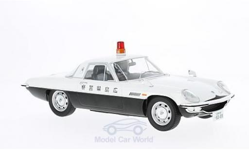 Mazda Cosmo 1/18 Triple 9 Collection Sport blanche/noire RHD Polizei Japan Diecast Sealed Body Series ohne Vitrine miniature