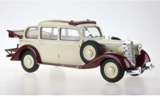 Mercedes 260 1/18 Triple 9 Collection D (W138) Pullman Landaulet beige/rouge 1936 komplett ouverts/es Verdeck miniature