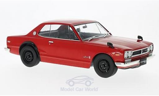 Nissan Skyline 1/18 Triple 9 Collection GT-R KPGC10 rojo RHD miniatura