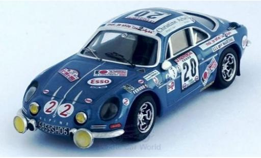Alpine A110 1/43 Trofeu Renault A 110 No.20 Rallye WM Tour de Corse 1975 M.Mouton/F.Conconi miniature
