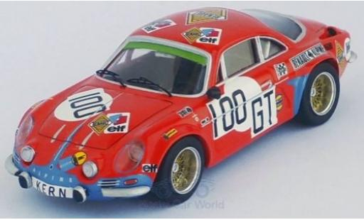 Alpine A110 1/43 Trofeu Renault No.100 Deutsche Renault Automobile 1000 Km Nürburgring 1971 D.Kern/W.Sommer miniature