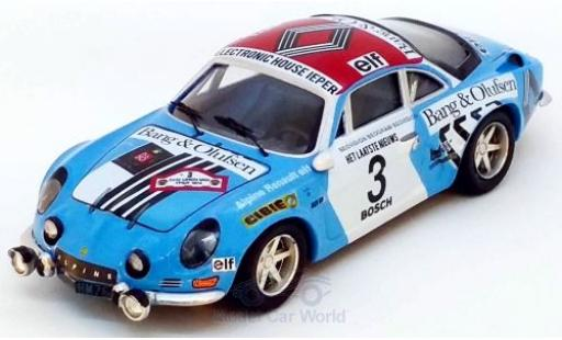 Alpine A110 1/43 Trofeu Renault No.3 Rally Ypern 1974 J.P.Nicolas/C.Delferrier diecast model cars