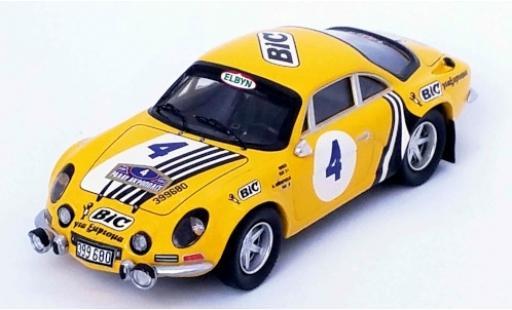 Alpine A110 1/43 Trofeu Renault No.4 BIC Rallye WM Rallye Acropolis 1976 Siroco/M.Andriopoulos diecast model cars