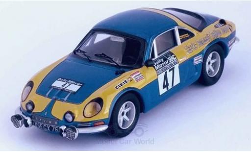 Alpine A110 1/43 Trofeu Renault No.47 Clarks Renault Rally Team Rallye WM RAC Rallye 1973 P.Moss/E.Crellin miniature