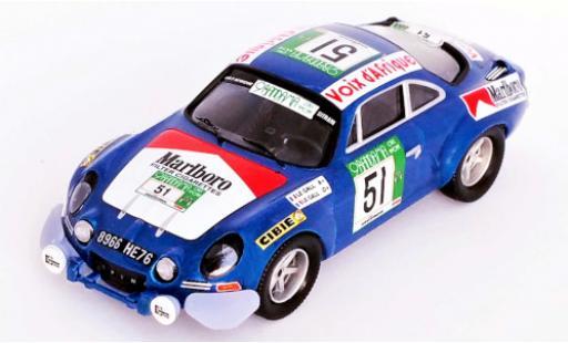 Alpine A110 1/43 Trofeu Renault No.51 Rallye WM Rallye Bandama 1977 M.Le Gall/Y.Le Gall diecast model cars