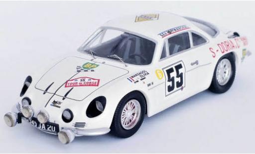 Alpine A110 1/43 Trofeu Renault No.55 Tour de Corse 1969 J.-P.Manzagol/J.-P.Oliva diecast model cars