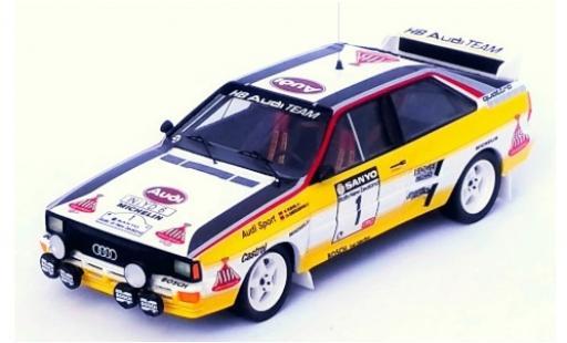 Audi Quattro 1/43 Trofeu No.1 HB Team HB Rallye New Zealand 1984 W.Röhrl/C.Geistdörfer modellino in miniatura