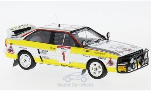 Audi Quattro 1/43 Trofeu quattro No.1 HB Team HB Rallye WM Safari Rallye 1984 H.Mikkola/A.Hertz diecast