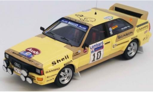 Audi Quattro 1/43 Trofeu quattro No.10 Rallye WM RAC Rallye 1983 L.Lampi/P.Kuukkala modellautos