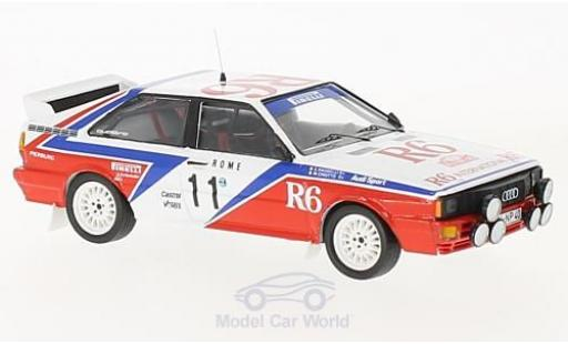 Audi Quattro 1/43 Trofeu quattro No.11 Rallye WM Rallye Monte Carlo 1982 M.Cinotto/E.Radaelli diecast