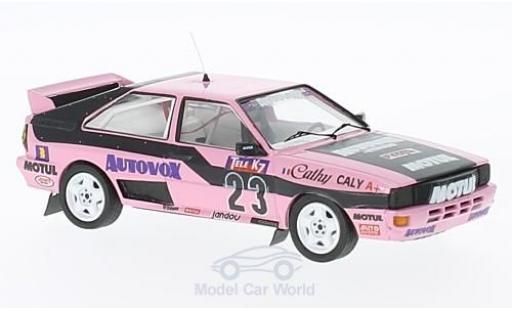 Audi Quattro 1/43 Trofeu quattro No.23 Rallye-Cross Luneville 1987 C.Caly miniature