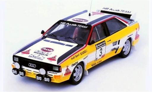 Audi Quattro 1/43 Trofeu No.3 HB Team HB Rallye New Zealand 1984 S.Blomqvist/B.Cederberg modellino in miniatura