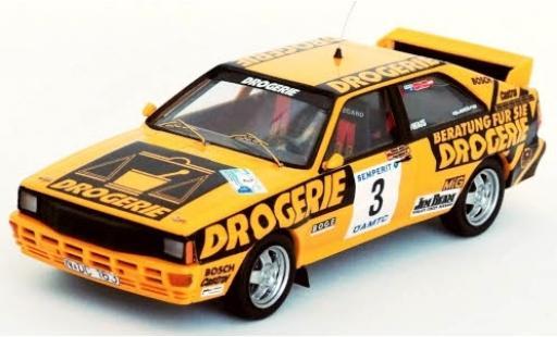 Audi Quattro 1/43 Trofeu quattro No.3 Int. Semperit Rally 1983 W.Wiedner/F.Zehetner modellautos