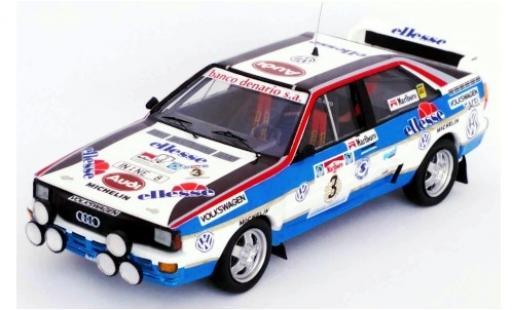 Audi Quattro 1/43 Trofeu quattro No.3 Rallye WM Rallye Argentinien 1984 J.Recalde/J.Del Buono miniature
