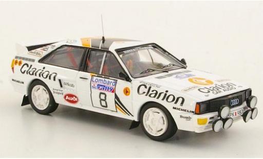 Audi Quattro 1/43 Trofeu quattro No.8 Clarion RAC Rallye 1985 modellino in miniatura
