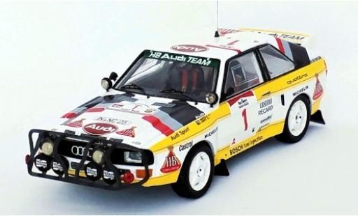 Audi Sport Quattro 1/43 Trofeu Sport quattro No.1 HB Team HB Rallye WM Safari Rallye 1985 H.Mikkola/A.Hertz miniature