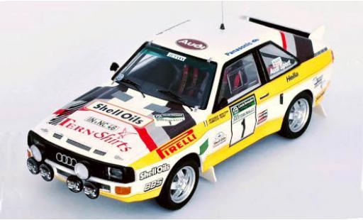 Audi Sport Quattro 1/43 Trofeu Sport quattro No.1 S Oils Scottish Rally 1985 M.Mouton/F.Pons coche miniatura