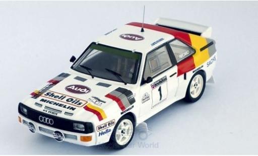 Audi Sport Quattro 1/43 Trofeu Sport quattro No.1 Welsh Rally 1986 H.Mikkola/A.Hertz diecast