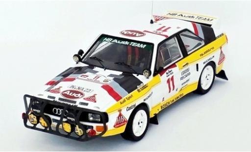 Audi Sport Quattro 1/43 Trofeu Sport quattro No.11 HB Team HB Rallye WM Safari Rallye 1985 S.Blomqvist/B.Cederberg miniature