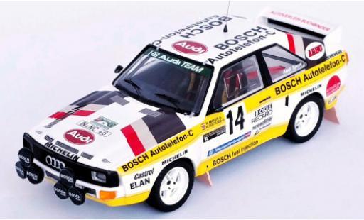 Audi Sport Quattro 1/43 Trofeu Sport quattro No.14 Bosch Internationale Steiermark Rallye 1985 W.Mayer/H.Gottlieb diecast model cars