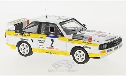 Audi Sport Quattro 1/43 Trofeu Sport quattro No.2 HB Team HB Rallye WM Rallye Tour de Corse 1984 mit Decals W.Röhrl/C.Geistdörfer diecast