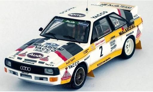 Audi Sport Quattro 1/43 Trofeu Sport quattro No.2 HB Team Rallye du Var 1984 B.Darniche/A.Mahe miniature