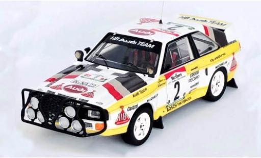 Audi Sport Quattro 1/43 Trofeu Sport quattro No.2 HB Team Rallye WM Rally Bandama 1985 M.Mouton/A.Hertz diecast model cars