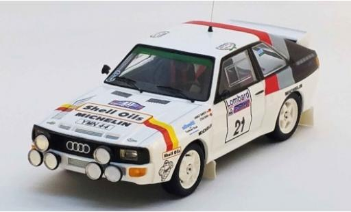 Audi Sport Quattro 1/43 Trofeu Sport quattro No.21 S Oils Rallye WM RAC Rallye 1986 H.Demuth/S.Bond diecast