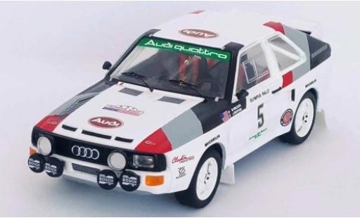 Audi Sport Quattro 1/43 Trofeu Sport quattro No.5 Rallye WM Olympus Rallye 1986 J.Buffum/N.Wilson coche miniatura
