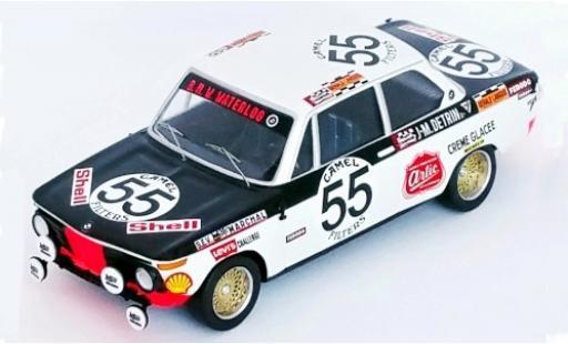 Bmw 2002 1/43 Trofeu No.55 Waterloo 24h Spa Francorchamps 1972 R.Derom/J-M.Detrin coche miniatura
