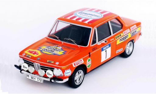 Bmw 2002 1/43 Trofeu ti No.1 Nogger Team Hamburg Langnese Rallye DM Rally Trifels 1973 R.Hainbach/W.Biebinger diecast model cars