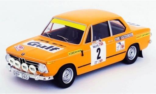 Bmw 2002 1/43 Trofeu ti No.2 Rallye Portugal 1972 L.Asterhag/C.Billstam miniature