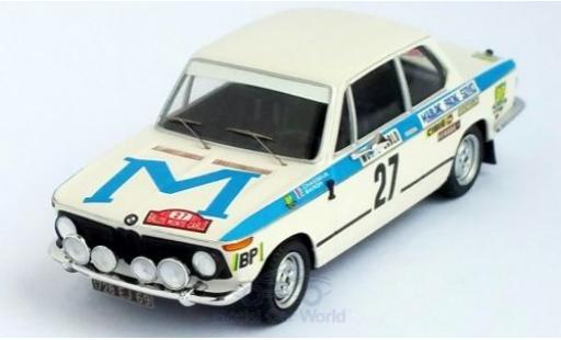 Bmw 2002 1/43 Trofeu ti No.27 Rallye WM Rallye Monte Carlo 1973 G.Chasseuil/C.Baron miniature