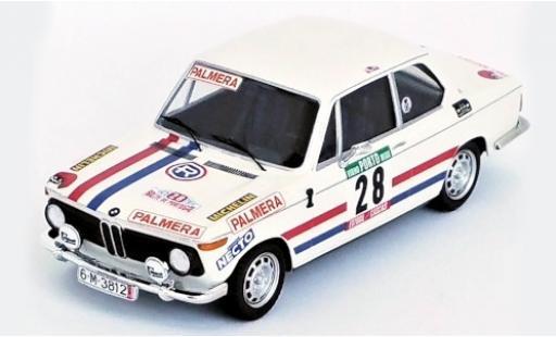 Bmw 2002 1/43 Trofeu Ti No.28 Palmera Rallye WM Rallye Portugal 1975 M.Etchebers/M.-C.Etchebers-Rives diecast model cars