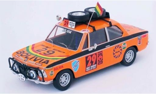 Bmw 2002 1/43 Trofeu ti No.29 Bolivia London - Mexico World Cup Rally 1970 W.Bendek/D.Hubner/J.Burgoa miniature