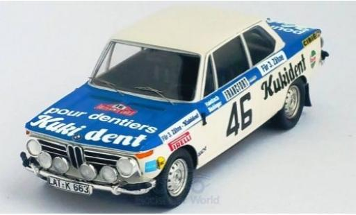 Bmw 2002 1/43 Trofeu ti No.46 Kukident Rally Monte Carlo 1973 R.Hainbach/W.Biebinger miniature