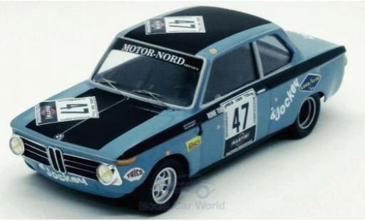 Bmw 2002 1/43 Trofeu ti No.47 Nürburgring 1971 R.Tobiasson/A.Persson miniature