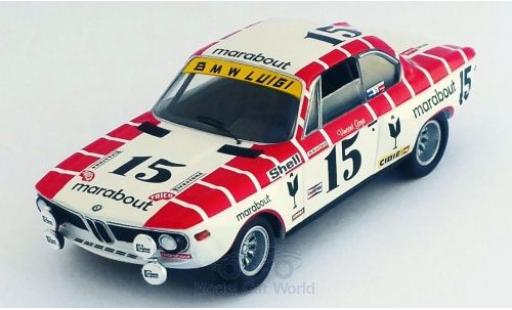 Bmw 2800 1/43 Trofeu CS No.15 Marabout 24h Spa 1972 V.Gaye/W.Braillard diecast model cars