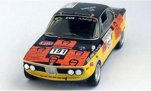 Bmw 3.0 1/43 Trofeu CS No.191 Targa Florio 1973 R.Maritni/A.Federico diecast model cars