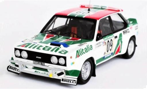Fiat 131 1/43 Trofeu Abarth No.09 VS Corse Olio Alitalia Rally WM Rally Bandama 1978 J.Vinatier/J.F.Jacob miniature