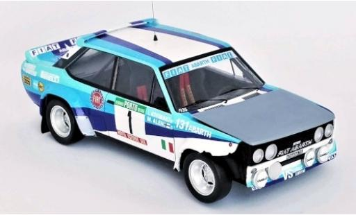 Fiat 131 1/43 Trofeu Abarth No.1 VS Corse Olio Rallye WM Rallye Portugal 1981 Crashed Car M.Alen/I.Kivimäki diecast model cars