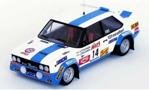Fiat 131 1/43 Trofeu Abarth No.14 Rallye WM 1000 Lakes Rallye 1979 H.Toivonen/J.Paajanen miniature