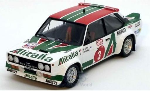Fiat 131 1/43 Trofeu Abarth No.3 Alitalia Rallye WM 1000 Lakes Rallye 1978 M.Alen/I.Kivimäki miniature